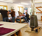 Inside the Upholstery Workshop where the Upholstery Courses take place